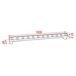 Cupar-100 RGBW 4-in-1 24Vdc 1025mm, 30° RGB+3.000 K