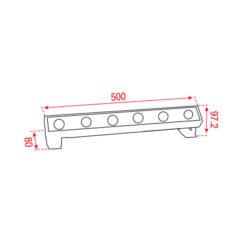 Cupar-50 RGBW 4-in-1 24Vdc 525mm 30° RGB+3.000 K