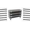 EUROLITE Set 12x LED BAR-12 QCL RGBA Bar + Case L