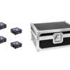 EUROLITE Set 4x AKKU Flat Light 3 bk + Case