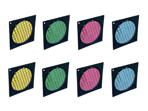 EUROLITE Set 8x Dichroic filter, black frame PAR-64, assorted