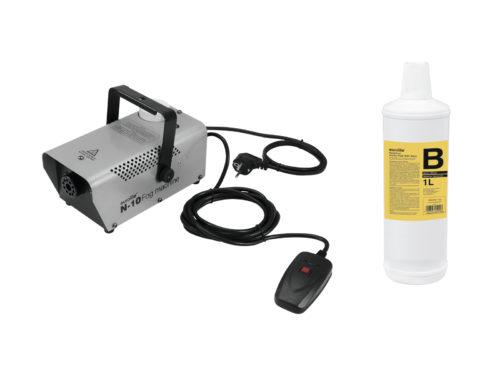EUROLITE Set N-10 silver + B2D Basic smoke fluid 1l