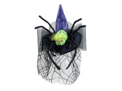 EUROPALMS Halloween Costume Witch Hat with Spider