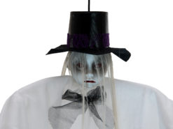 EUROPALMS Halloween Figure Woman with Hat, 70cm