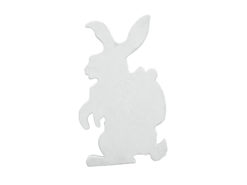 EUROPALMS Silhouette Easter Rabbit, white, 60cm