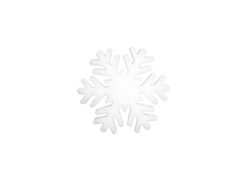 EUROPALMS Snowflake made of snow matting, 17cm, flame retardent