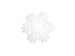 EUROPALMS Snowflake made of snow matting, 29cm, flame retardent