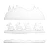 EUROPALMS Winter landscape made of snow matting, flame retarden