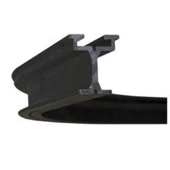 Eurotrack - Corner 90° - Black Senza giunzioni, 50(r)cm, Nero (rivestimento a polvere)