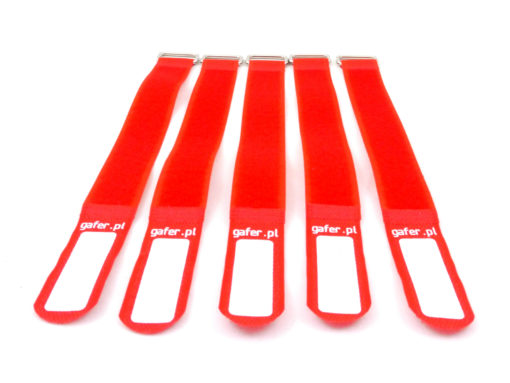 GAFER.PL Tie Straps 25x260mm 5 pieces red