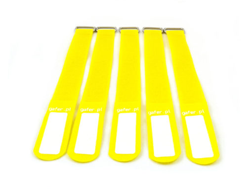 GAFER.PL Tie Straps 25x260mm 5 pieces yellow