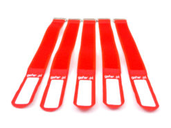 GAFER.PL Tie Straps 25x400mm 5 pieces red