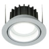 Hoorn 90 Round 3000 K Adjustable Argento 230V 8W 60° 600Lm