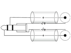 OMNITRONIC Adaptercable 3.5 Jack 90°/2xRCA 0,5m bk