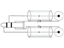 OMNITRONIC Adaptercable 3.5 Jack 90°/2xRCA 1.5m bk