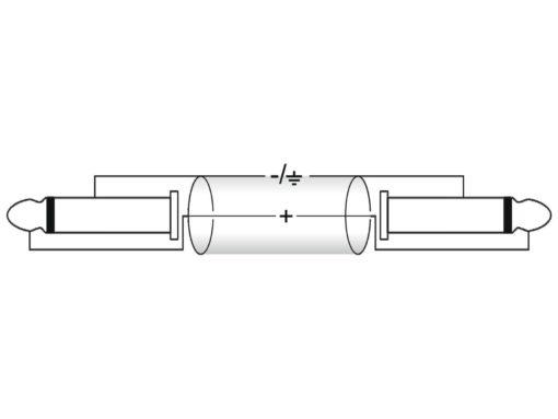 OMNITRONIC Jack cable 6.3 mono 1x 90° 0.9m bk