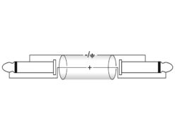 OMNITRONIC Jack cable 6.3 mono 1x 90° 3m bk