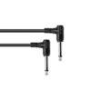 OMNITRONIC Jack cable 6.3 mono 2x 90° 0.15m bk