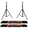 OMNITRONIC Set 2x BS-2 EU Loudspeaker Stand + 2x Carrying bag