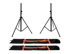 OMNITRONIC Set 2x BS-2 EU Loudspeaker Stand + 2x Carrying bag