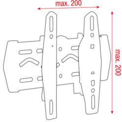 """PLB-2342 LCD per installazione a parete 23""""-42"""""""