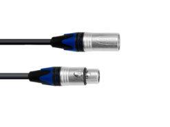 PSSO DMX cable XLR COL 3pin 5m bk Neutrik