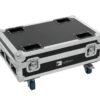 ROADINGER Flightcase 4x AKKU BAR-6 Glow QCL Flex QuickDMX with c