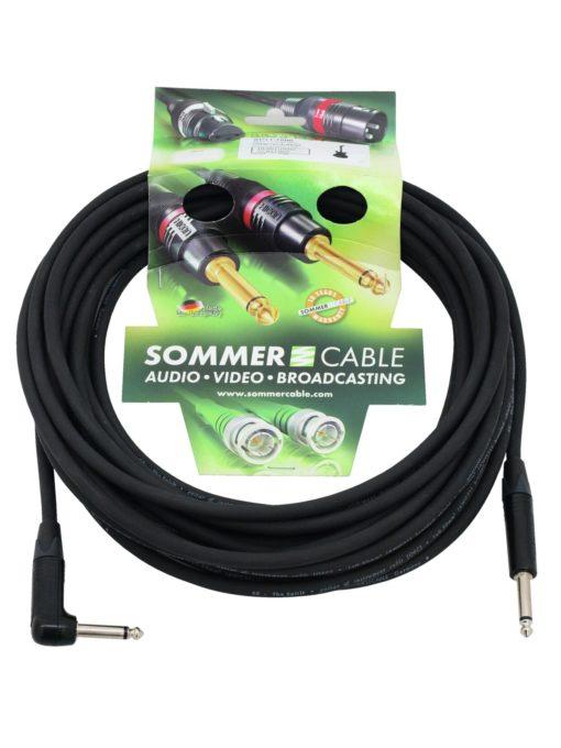 SOMMER CABLE Jack cable 6.3 mono 1x 90° 10m bk Neutrik