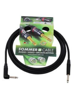 SOMMER CABLE Jack cable 6.3 mono 1x 90° 3m bk Neutrik