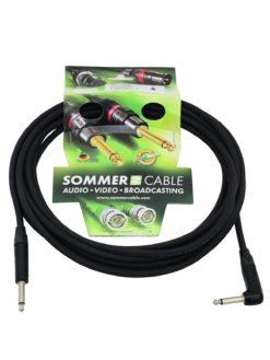 SOMMER CABLE Jack cable 6.3 mono 1x 90° 6m bk Neutrik
