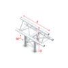 T-Cross vertical 3-way, apex up Taglio a T verticale 3 vie apice su