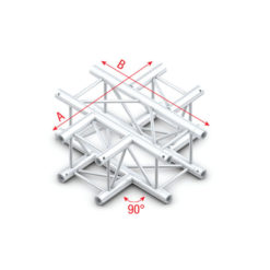 Cross 4-way Q-016 taglio a Q