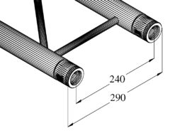 ALUTRUSS BILOCK BQ2-210 2-way Cross Beam