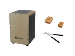 DIMAVERY Set CJ-540 Cajon + Castanets + Brushes