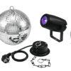 EUROLITE Mirror Ball 20cm with motor + LED PST-5 QCL Spot bk