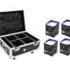 EUROLITE Set 4x AKKU IP UP-4 QCL Spot QuickDMX + Flightcase with
