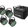 EUROLITE Set 4x LED PARty TCL Spot + Soft-Bag