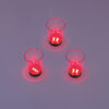 EUROPALMS LED Glass 2oz with Dice Play, red, 3x