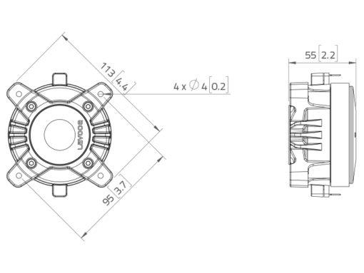 """LAVOCE DF10.10L 1"""" Compression Driver Ferrite Magnet"""