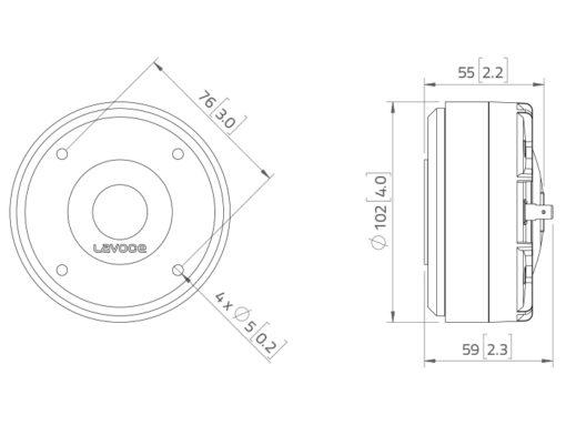 """LAVOCE DF10.17 1"""" Compression Driver Ferrite Magnet"""