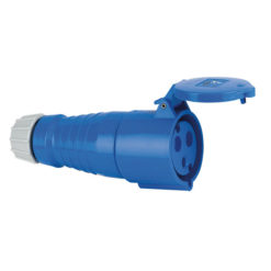 CEE Form 32A 3 Pin Socket Female Alloggiamento blu