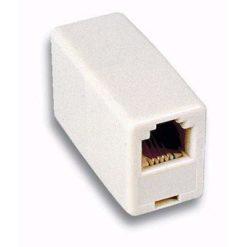Accoppiatore Telefonico 6 Poli 4 Contatti Pin to Pin F/F Avorio