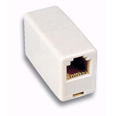 Accoppiatore Telefonico 8 poli Pin to Pin F/F Avorio