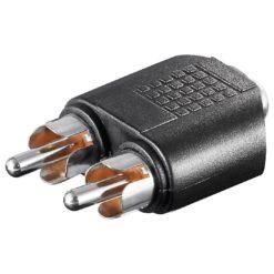 Adattatore Audio 2 RCA Maschio a 1 Audio 3.5mm Femmina