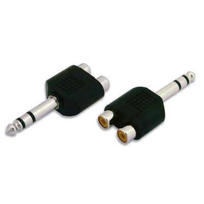 Adattatore Audio 6.3mm Maschio a 2 RCA Femmina