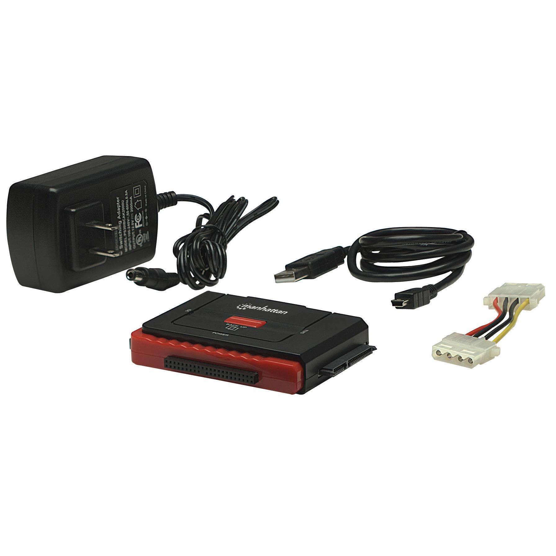 Adattatore USB 2.0 Hi-Speed a SATA/IDE