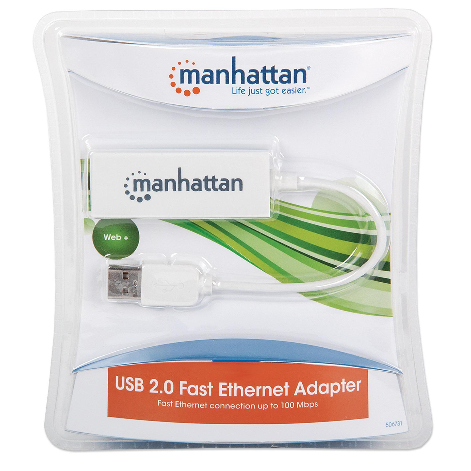 Adattatore USB 2.0 con porta Ethernet LAN 100Mbps