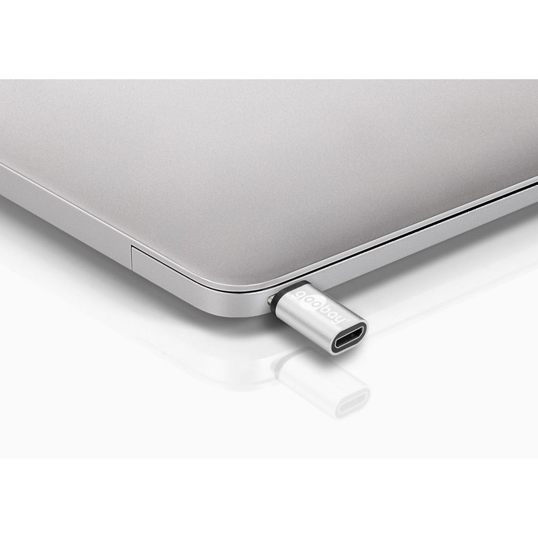 Adattatore USB-C™ Maschio a USB Micro-B Femmina Silver