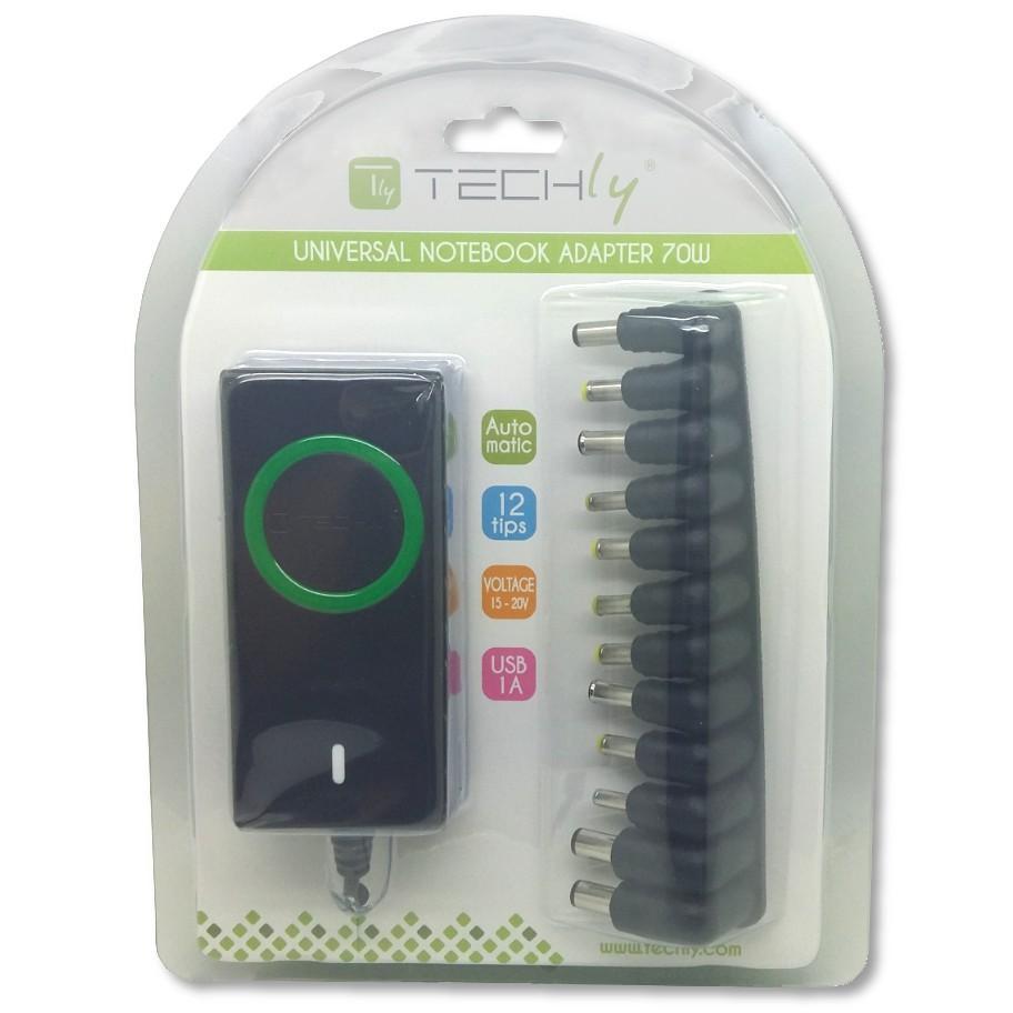 Alimentatore Universale AC per Notebook e LCD 70W con porta USB
