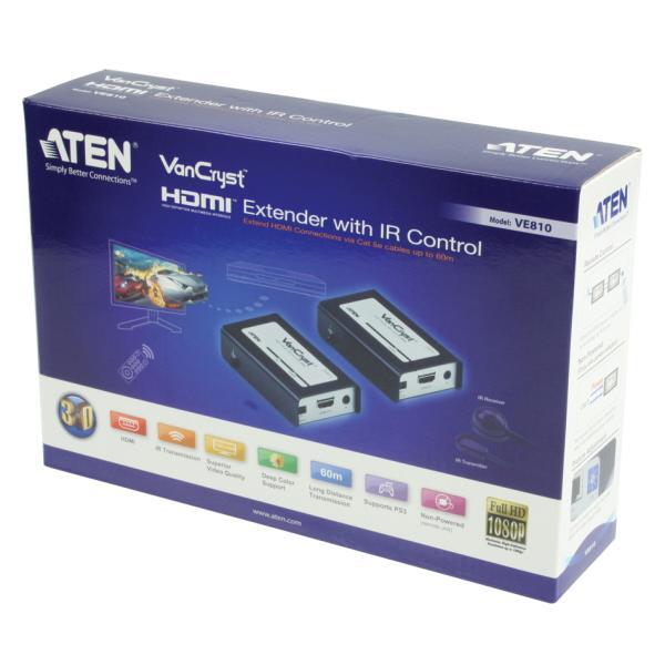 Amplificatore Extender HDMI con supporto Telecomando a Infrarossi, VE810